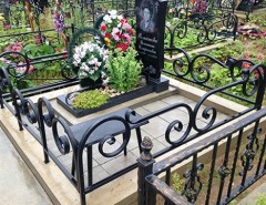 Правила установки и изготовления оградок на могилу: стандарты и размеры