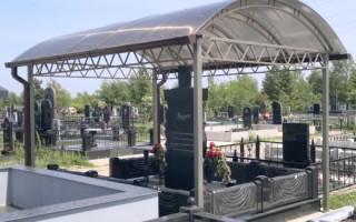 Как установить навес на могилу и его предназначение