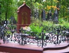 Виды оградок для оформления могилы