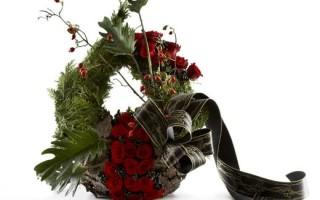 Правила оформления траурных лент на похоронных венках