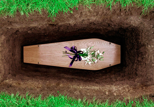 гроб в яме
