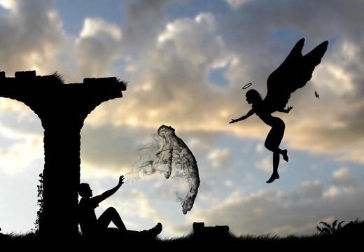 ангел забирает душу