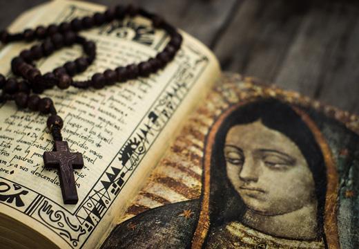 крестик на молитве