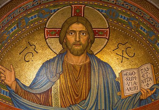 фреска с иисусом
