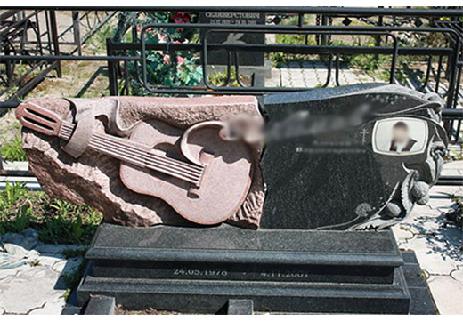 надгробие для музыканта