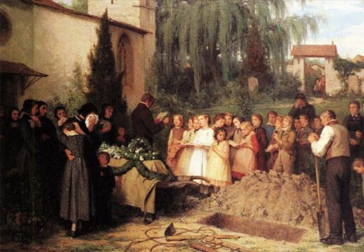 картина похороны
