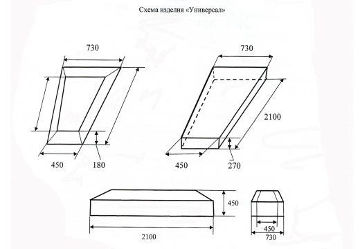чертеж обычного гроба
