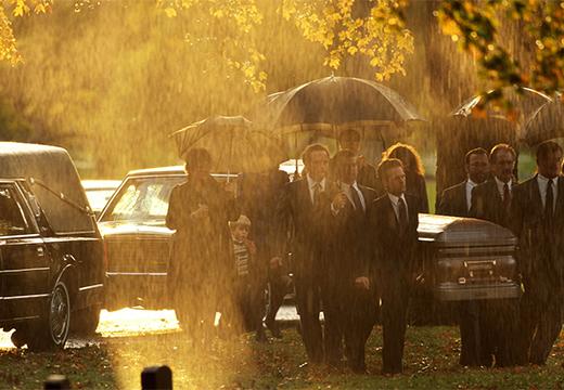 дождь во время похорон