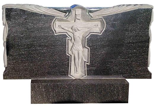 резной крест на памятнике