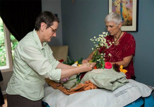 женщины готовятся к похоронам
