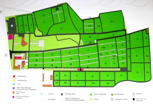 Схема троекуровского кладбища