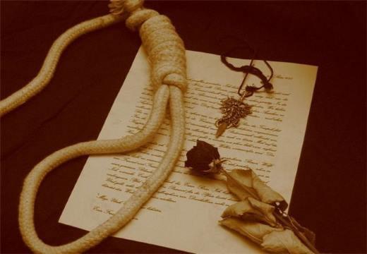 посмертное письмо и петля