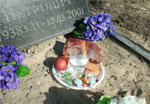 Подаяния на могиле