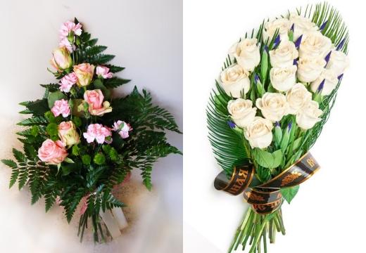 букеты из роз ритуальные