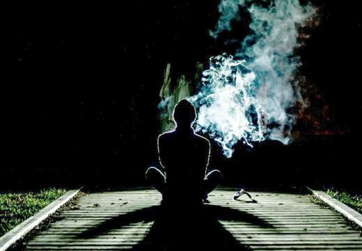 медитация ночь дым