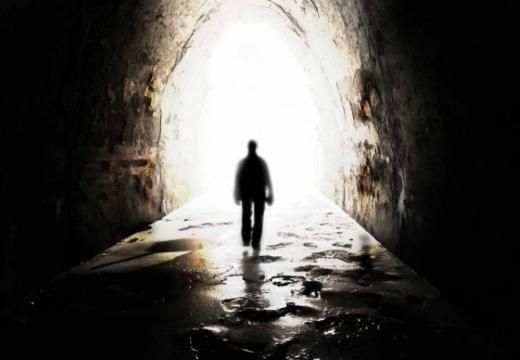 человек в тоннеле