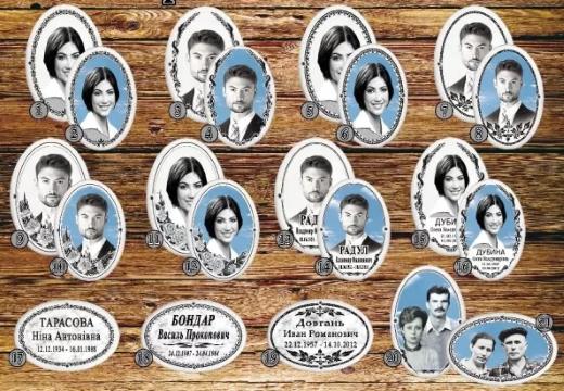 фотокерамические таблички на памятник