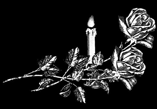 эскиз цветов со свечой