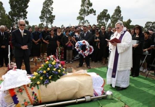 служба на кладбище похороны