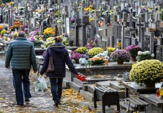 пара идет по кладбищу