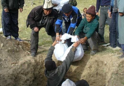 погребение тела у казахов