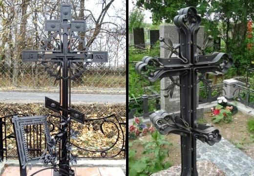 кованые кресты на могилу