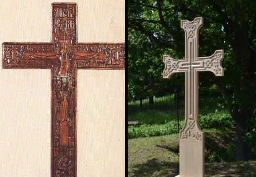 католические могильные кресты