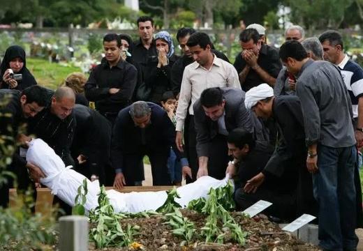 мусульманское погребение покойника