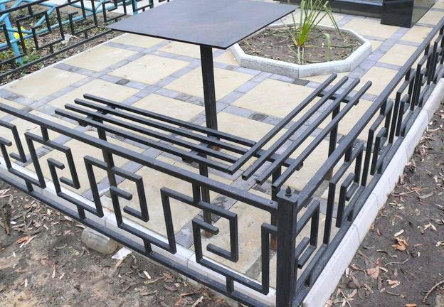 оградка на могиле