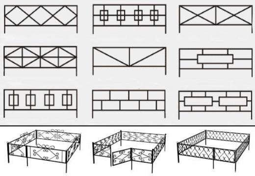 эскизы металлической оградки