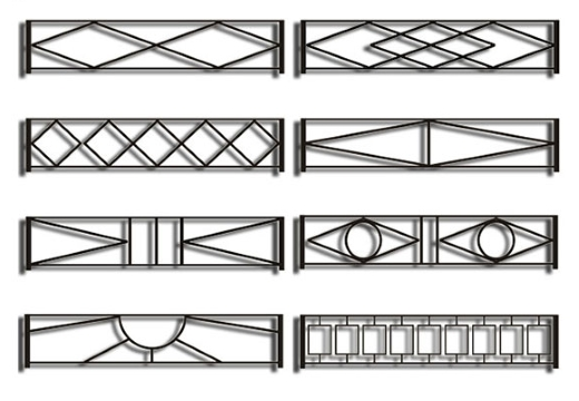 варианты оградок из металла