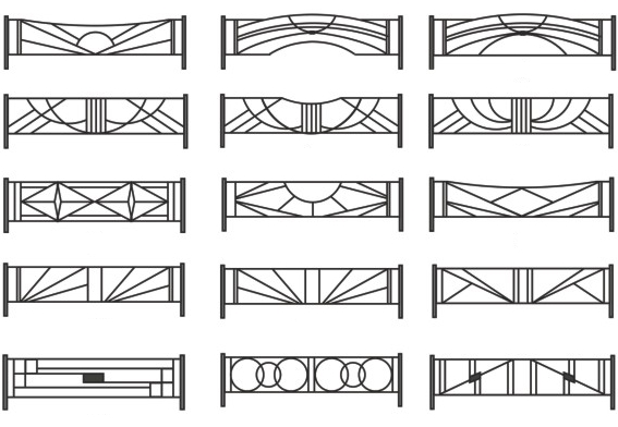 дизайн металлических ритуальных оград