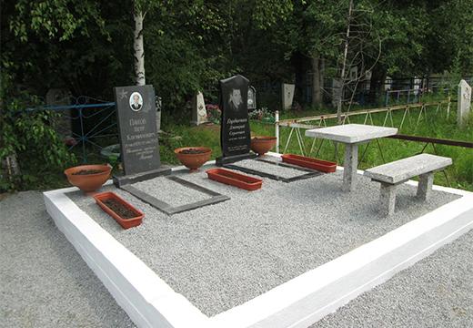 могилы облагороженные щебнем