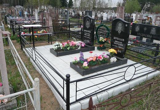 участок с двумя могилами
