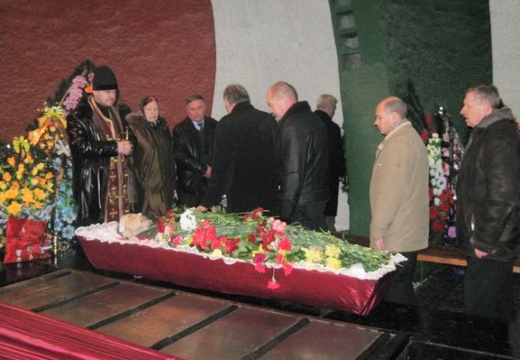 прощание в крематории