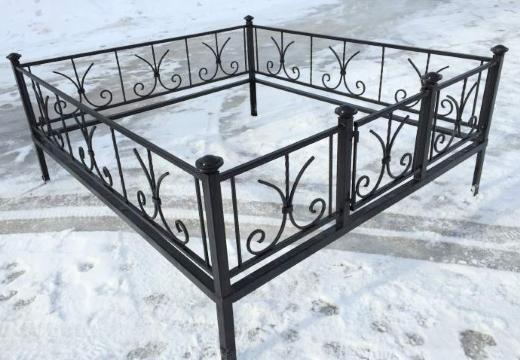 ограда ритуальная из металла