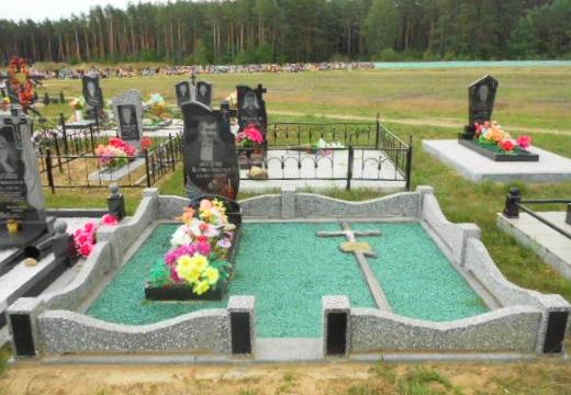 бетонная оградка на могилу
