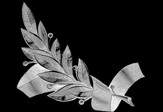 гравировка лавровая ветвь