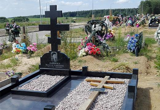 надгробие в виде креста