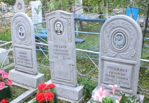 бетонные памятники на кладбище