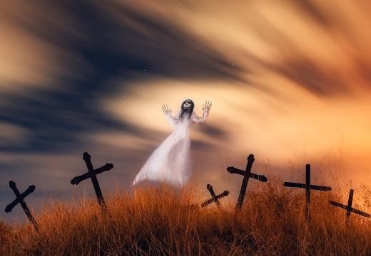 привидение и кресты