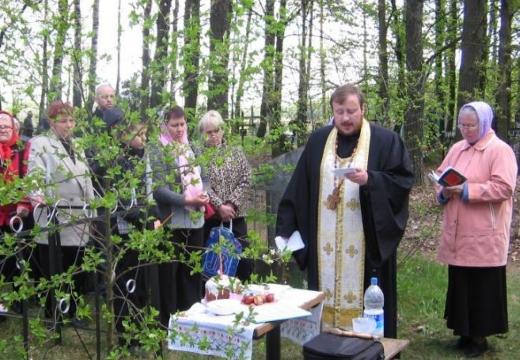 освящение на кладбище