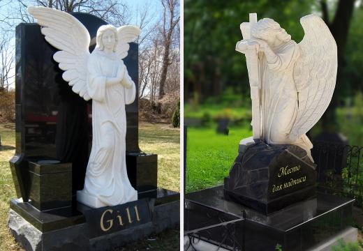 памятники на могилу с ангелами