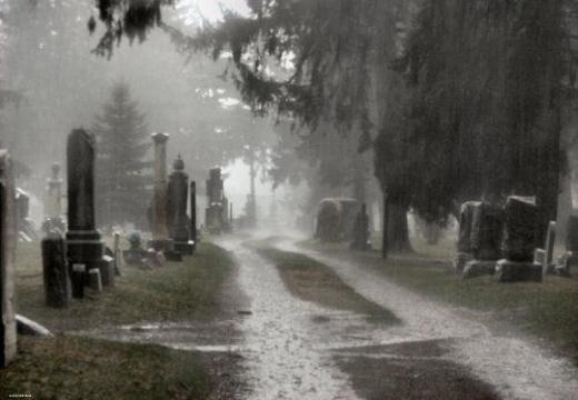 дождь на кладбище