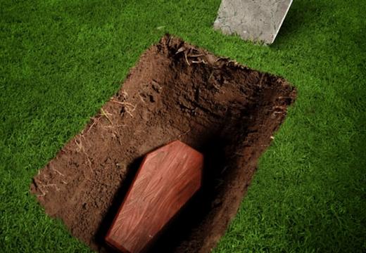 гроб в могиле