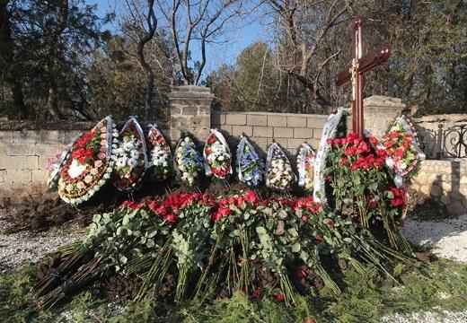 могила после похорон