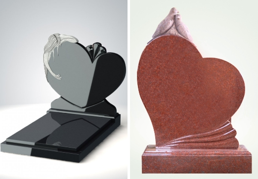 образцы памятников в виде сердца
