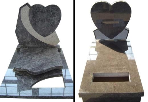 надгробья с сердцем