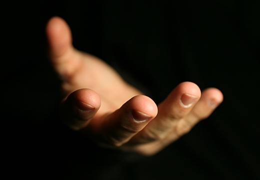 протянутая рука