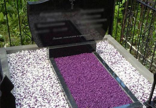 щебенка на могилу